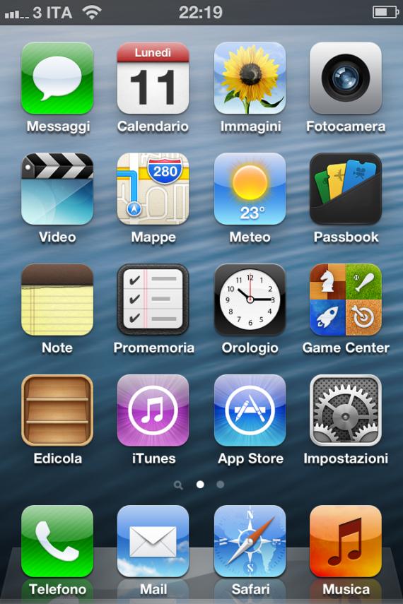 iOS 6.0 Beta Home