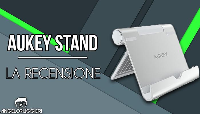 AUKEY Supporto Tablet Regolabile Alluminio Porta Telefono per iPad Air/Mini, iPhone X / 8, Samsung, Kindle, Nintendo Switch e Altri Tablets And Smartphones