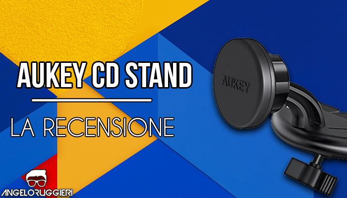 AUKEY Supporto Auto Magnetico CD Slot 360 ° di Rotazione Porta Cellulare Auto Universale per iPhone 7 / 6 / 5 , Samsung Note 8 / S8 , GPS , ecc. - Nero