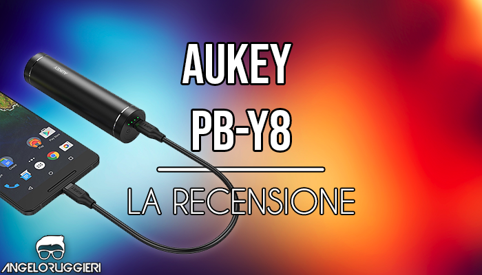 AUKEY USB C Powerbank 5000mAh, Mini Caricatore Portatile Type C con 2 Porte per Samsung S9 / S8, Google Nexus 5X, Nexus 6P, Nintendo Switch ecc. (Nero)
