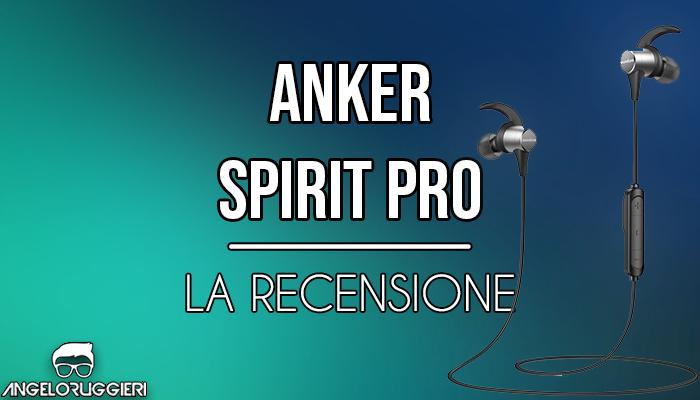 Cuffie Soundcore Spirit Pro di Anker, con Dual EQ, 10 ore di autonomia, tecnologia SweatGuard, suono ad alta fedeltà, micro auricolari per lo sport resistenti al sudore