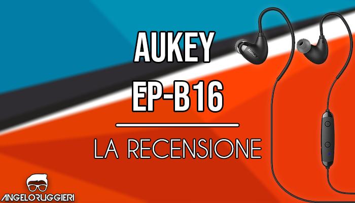 AUKEY Auricolari Bluetooth 4.1 Cuffie in Ear Wireless Sport Stereo con Microfono per iPhone, Samsung, HTC e iPad ECC (Nero)