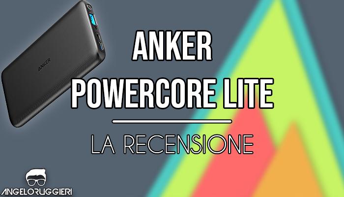 Anker PowerCore Lite, Caricabatterie portatile da 10000 mAh con doppio ingresso di carica USB-C e Micro USB per Smartphone, 5V, 2.4A, Nero