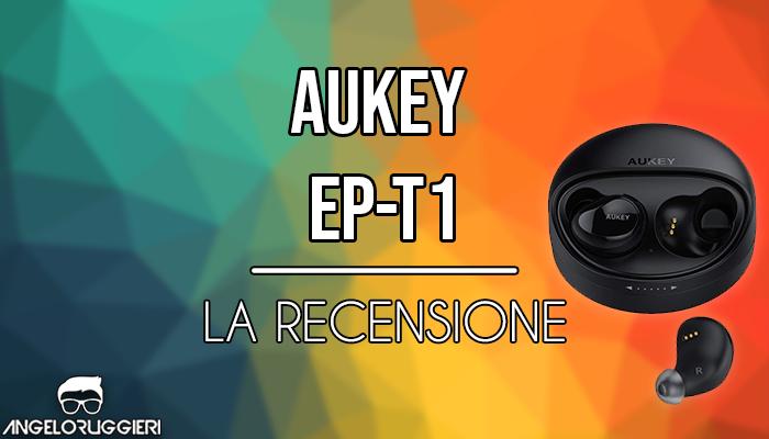 AUKEY Cuffie Bluetooth, Mini Auricolari Wireless con Microfono Incorporato per iPhone, Samsung, Android ed altri Dispositivi