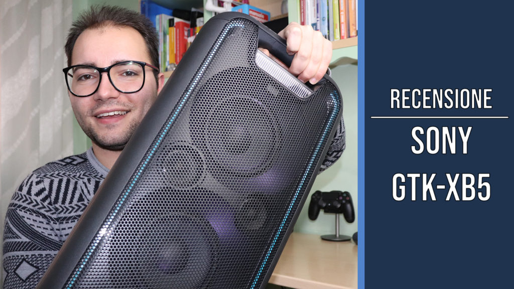 Sony GTK-XB5 Sistema Home Audio con Funzione Extra Bass, Bluetooth, NFC, Alimentazione AC, Nero
