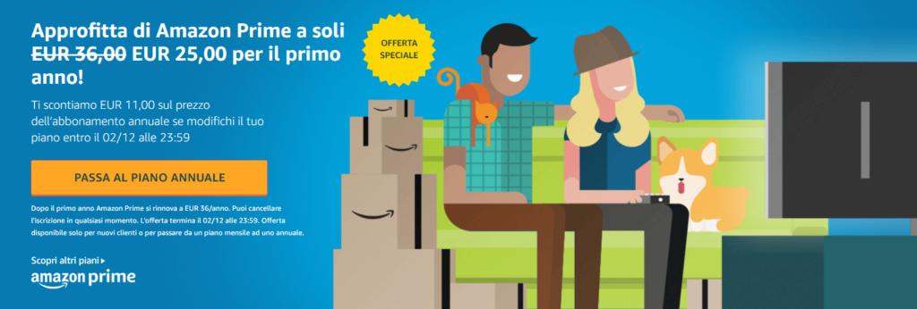 Amazon sconto Amazon Prime