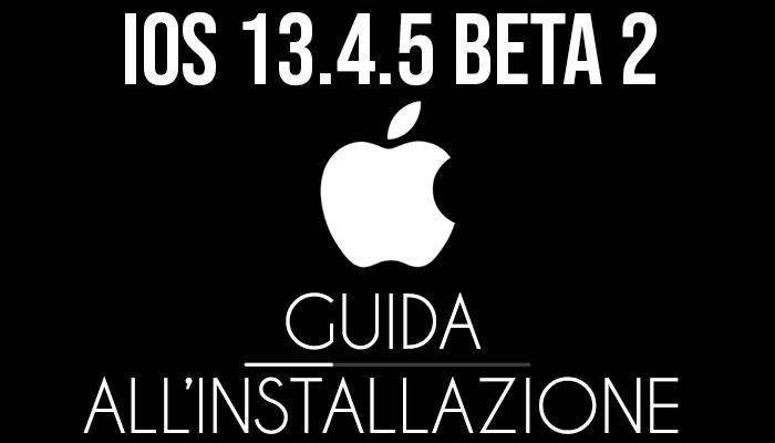 iOS 13.4.5 Beta 2